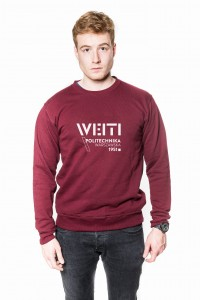 Crewneck sweatshirt WEITI PW (dark red)